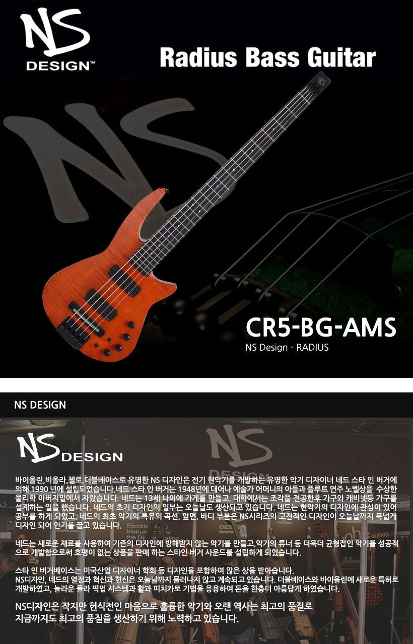 NS Design 베이스기타 NS CR5-BG-AMS