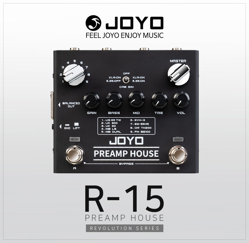JOYO R-15 PREAMP HOUSE